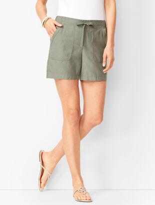 Pull-On Drawstring Shorts
