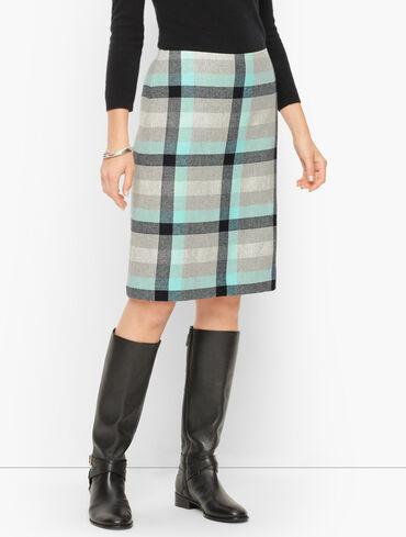 Dreamy Plaid A-Line Skirt