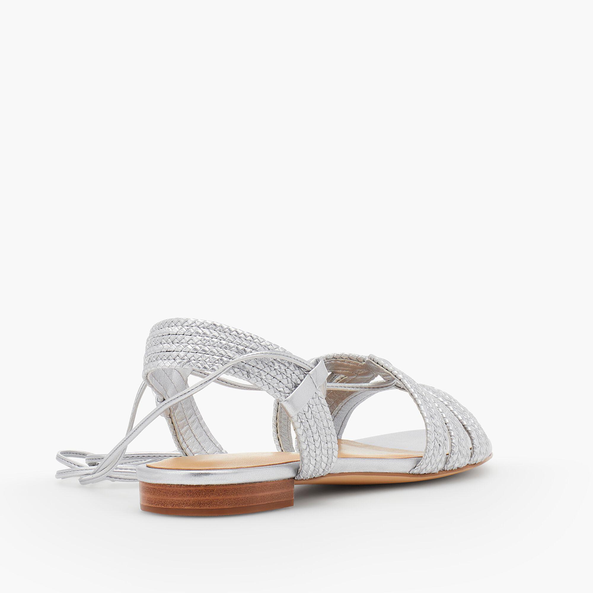 df39522b5d3b Keri Braided Lace-Up Sandals-Metallic