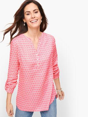 Linen Camp Shirt - Lattice