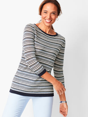 Linen Stripe Sweater