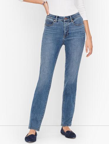 Plus Size Exclusive Straight Leg Jeans - Shore Wash