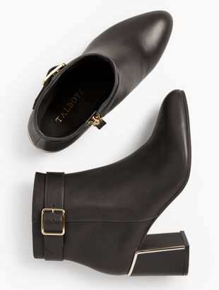 Simone Flare-Heel Ankle Boots