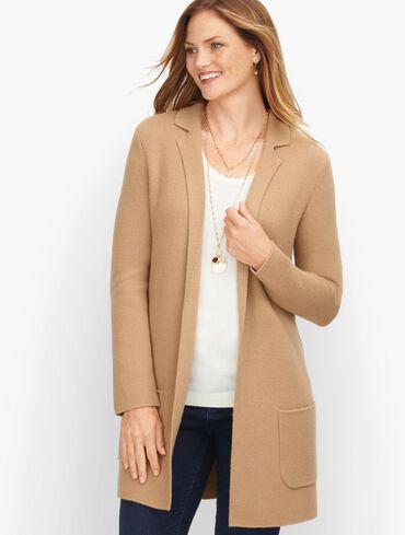 Milano Stitch Sweater Jacket - Solid