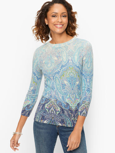Audrey Cashmere Sweater - Calico Paisley
