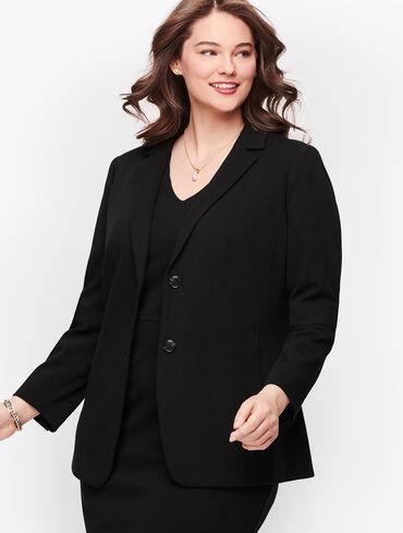 Italian Luxe Knit - Two Button Blazer