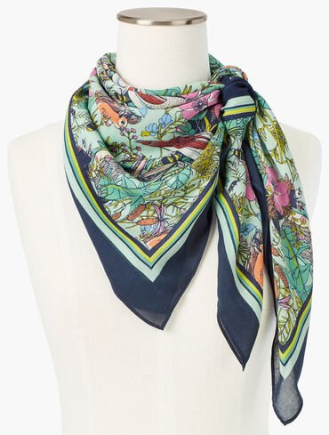 Forest Friends Square Modal Scarf
