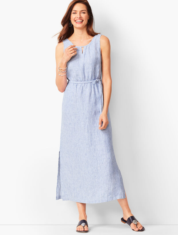 Stripe Linen Maxi Dress