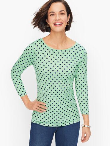 Cotton Rayon Dot Sweater