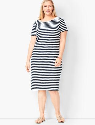 Scallop Knit Jersey Dress