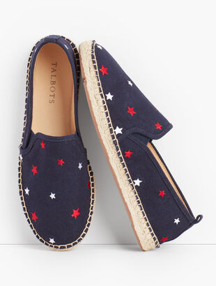 Izzy Espadrilles - Embroidered Stars