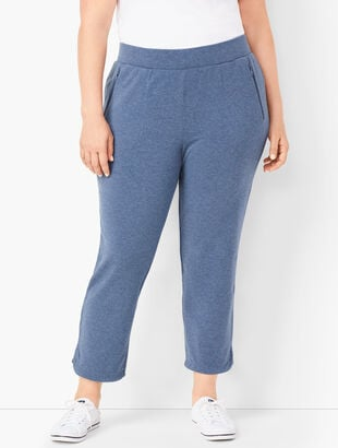 Essential Terry Straight-Leg Crops