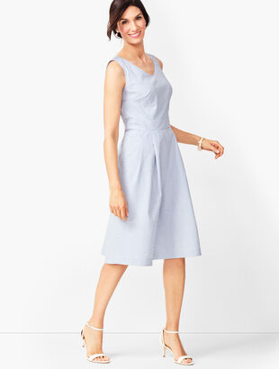 Lightweight Seersucker Fit & Flare Dress