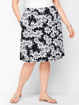 Tropical Dots Slub Skirt