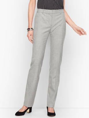 Tailored Sharkskin Straight Leg Pants