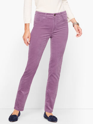 Velveteen Straight Leg Pants