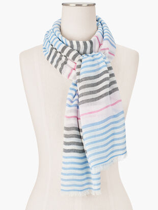 Variegated Stripes Oblong Scarf