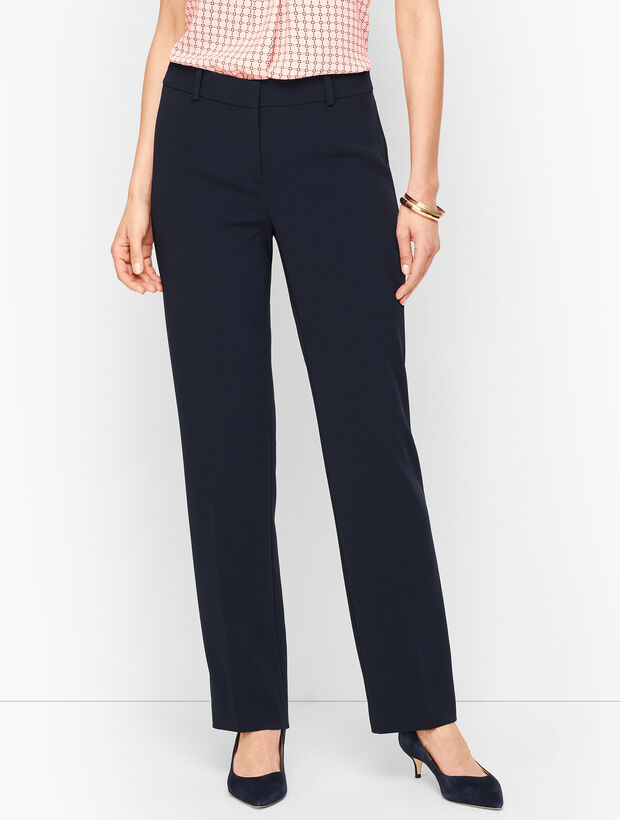 Easy Travel Straight-Leg Pants