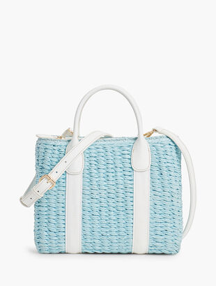 Corded Paper Straw Bag
