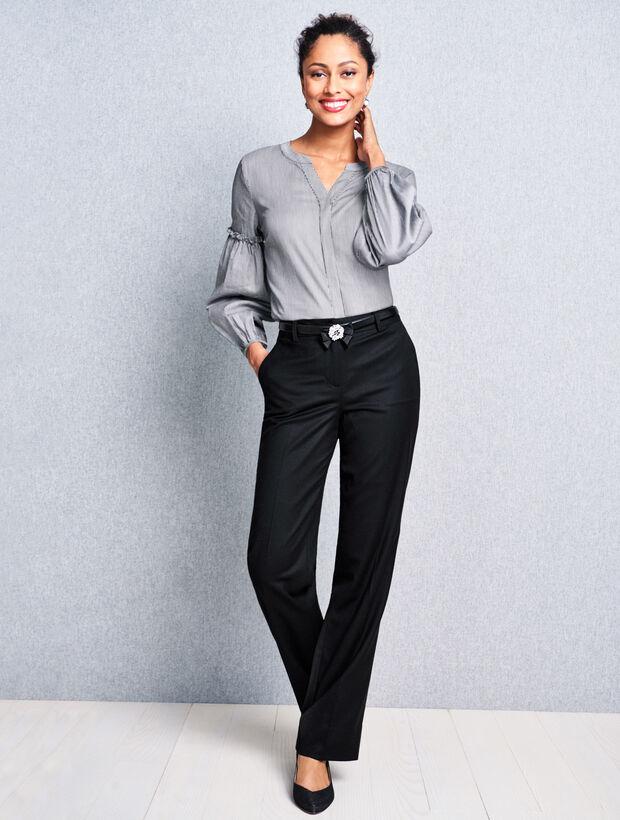 Talbots Windsor Wide-Leg Pant - Flannel