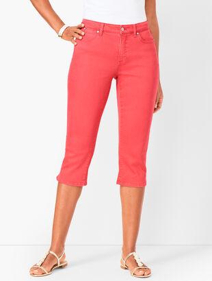 Denim Pedal Pushers - Garment-Dyed - Curvy Fit