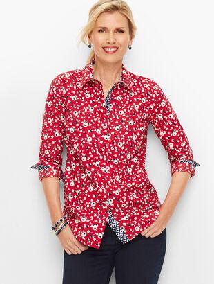 Classic Cotton Shirt - Scarlet Floral