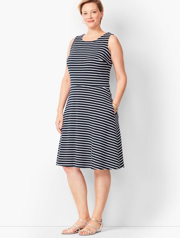 Edie Knit Fit & Flare Dress - Stripe