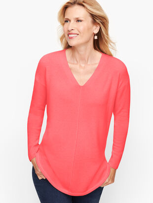 Cashmere V-Neck Tunic
