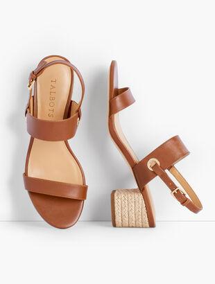 Mimi Rope Heel Sandals - Vachetta Leather