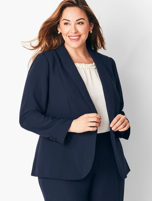 Talbots Refined Crepe Single-Button Peplum Blazer