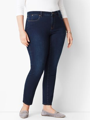 Plus Size Slim Ankle Jeans - Indy Wash
