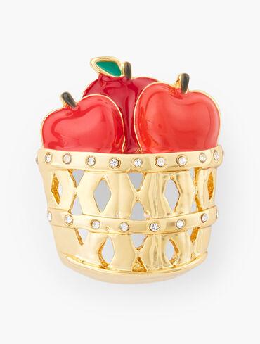Basket Of Apples Brooch