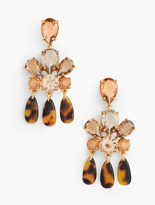 Tortoise & Crystal Earrings