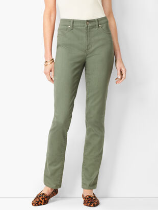 High-Waist Straight-Leg Jeans - Summer Sage