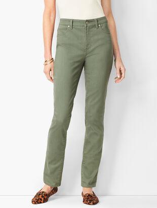 High-Waist Straight-Leg Jeans - Summer Sage