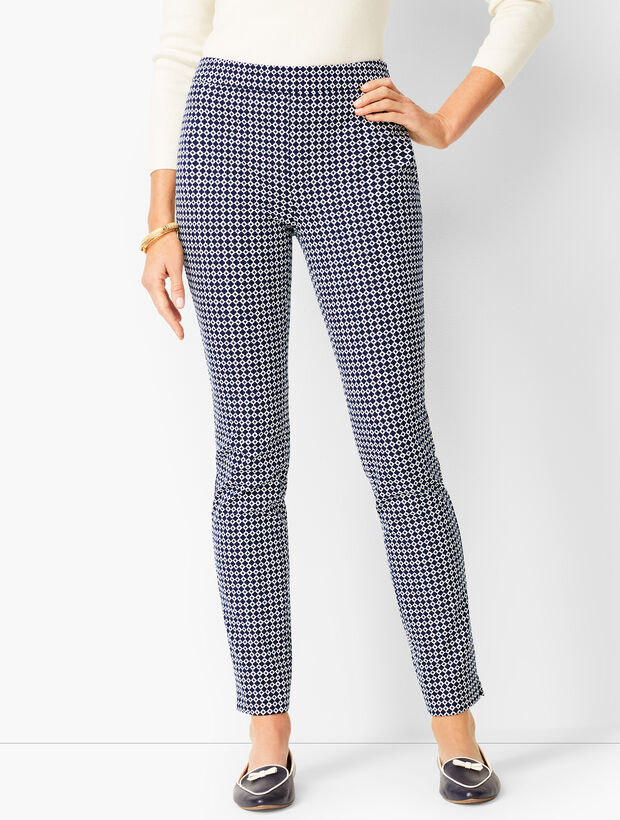 Talbots Chatham Ankle Pants - Curvy Fit  - Geo Print