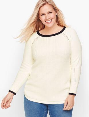 Tipped Rib Stitch Sweater