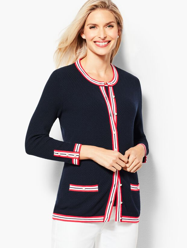 Textured Tipped Cardigan