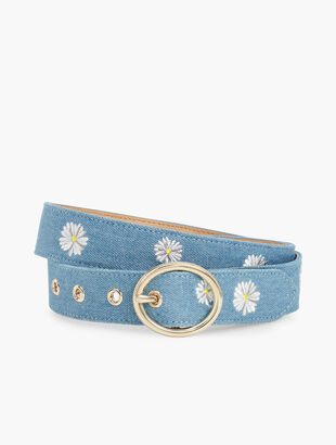 Embroidered Daisies Belt