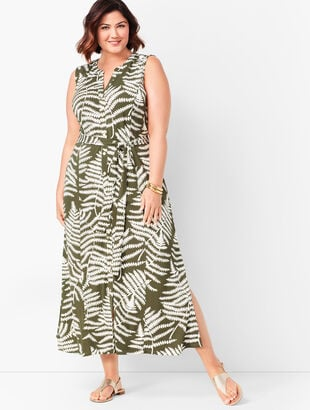 Botanical Maxi Shirtdress
