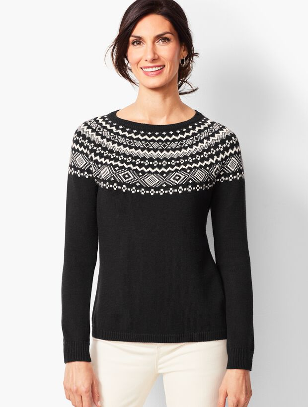 96f313affe78 Images. Fair Isle Crewneck Sweater