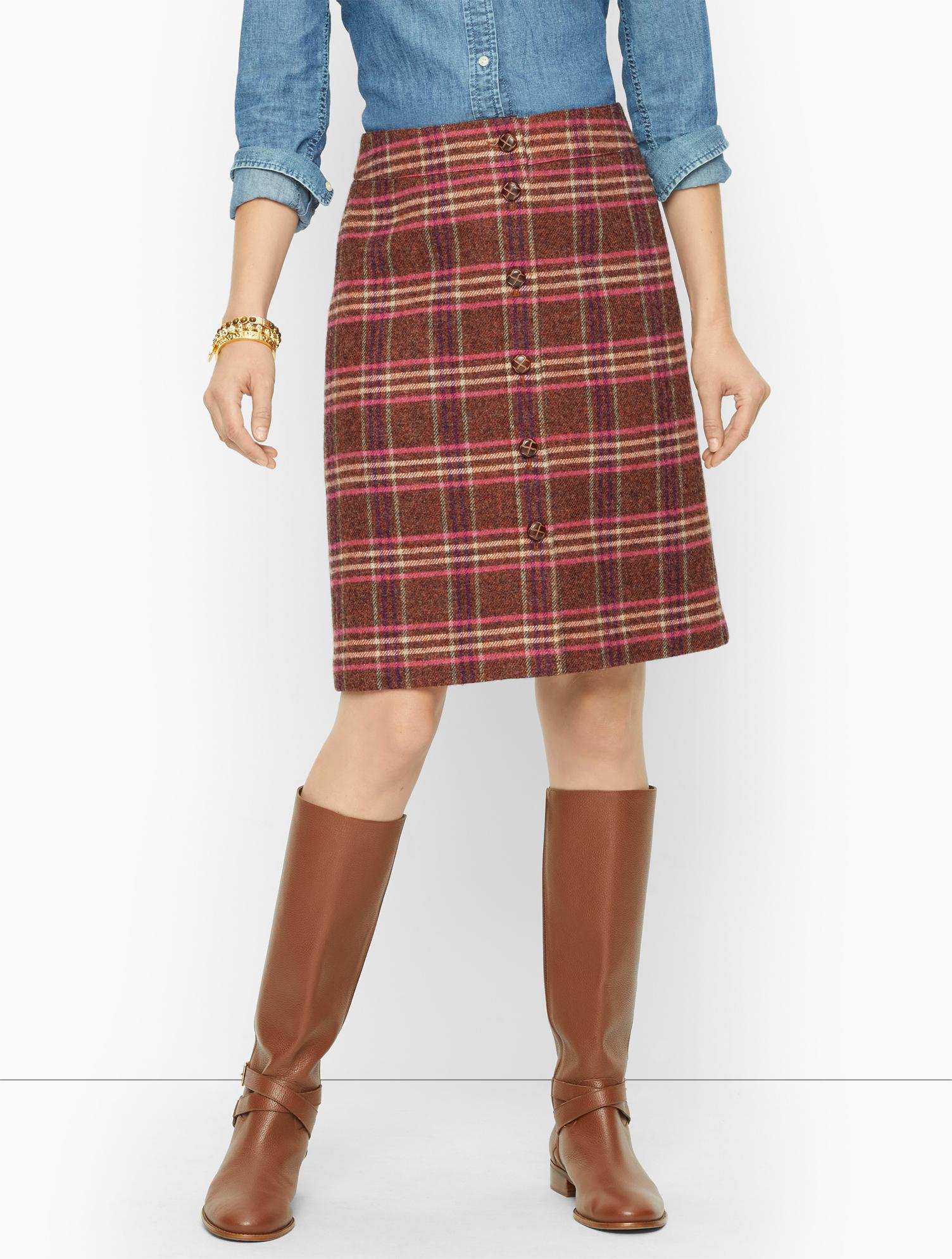 1960s Style Clothing & 60s Fashion Plus Size - Wool Blend A-Line Skirt - OrangePink - 24 Talbots $109.00 AT vintagedancer.com