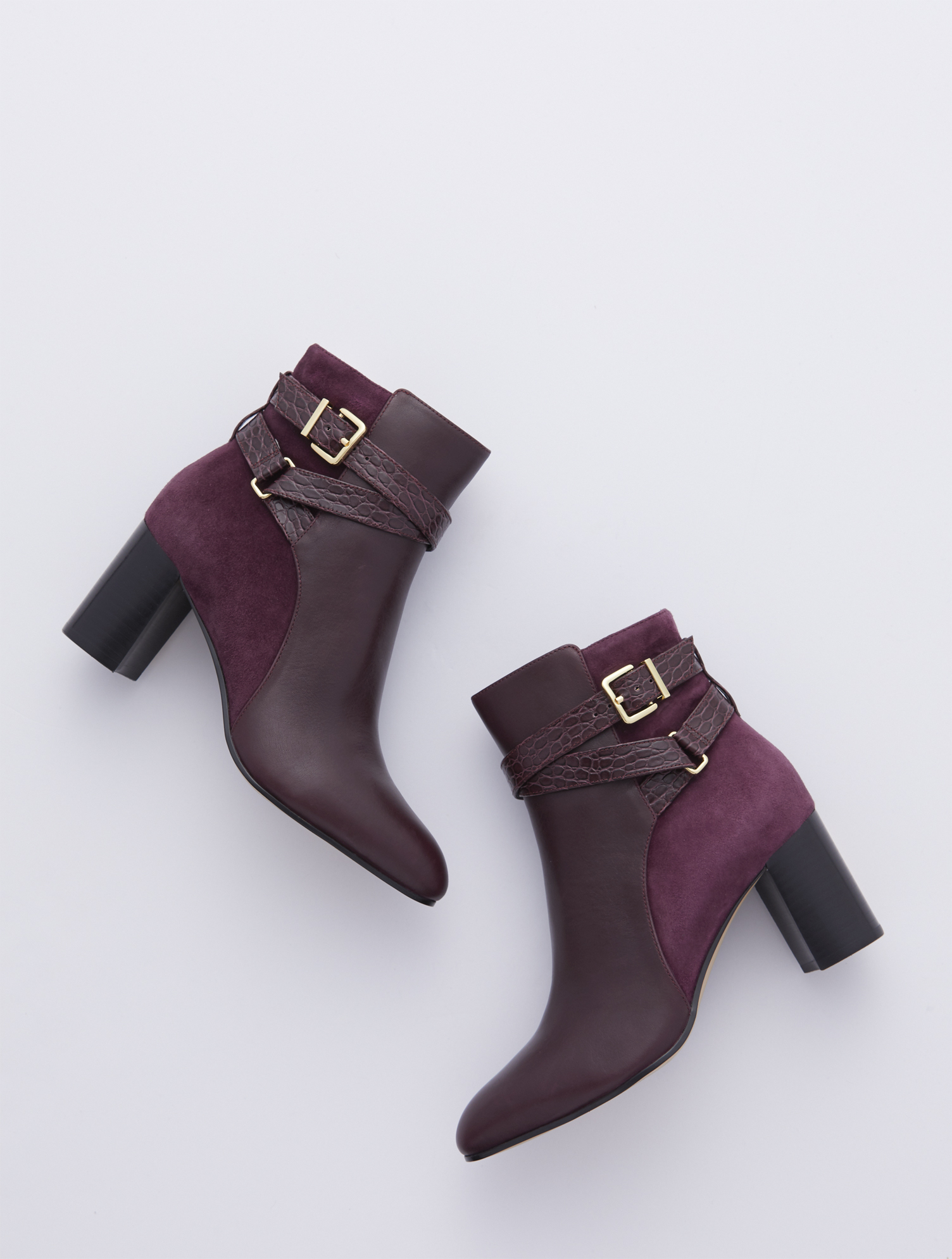 Versatile leather booties with a sleek silhouette, feminine flare heel and almond-shaped toe. Inside-step zip allows for easy on and off. Features 3 inches heelAlmond toe3MM Memory foam footbedImported Material: 100% Leather Simone Vachetta Ankle Boots - Rich Burgundy - 11M Talbots