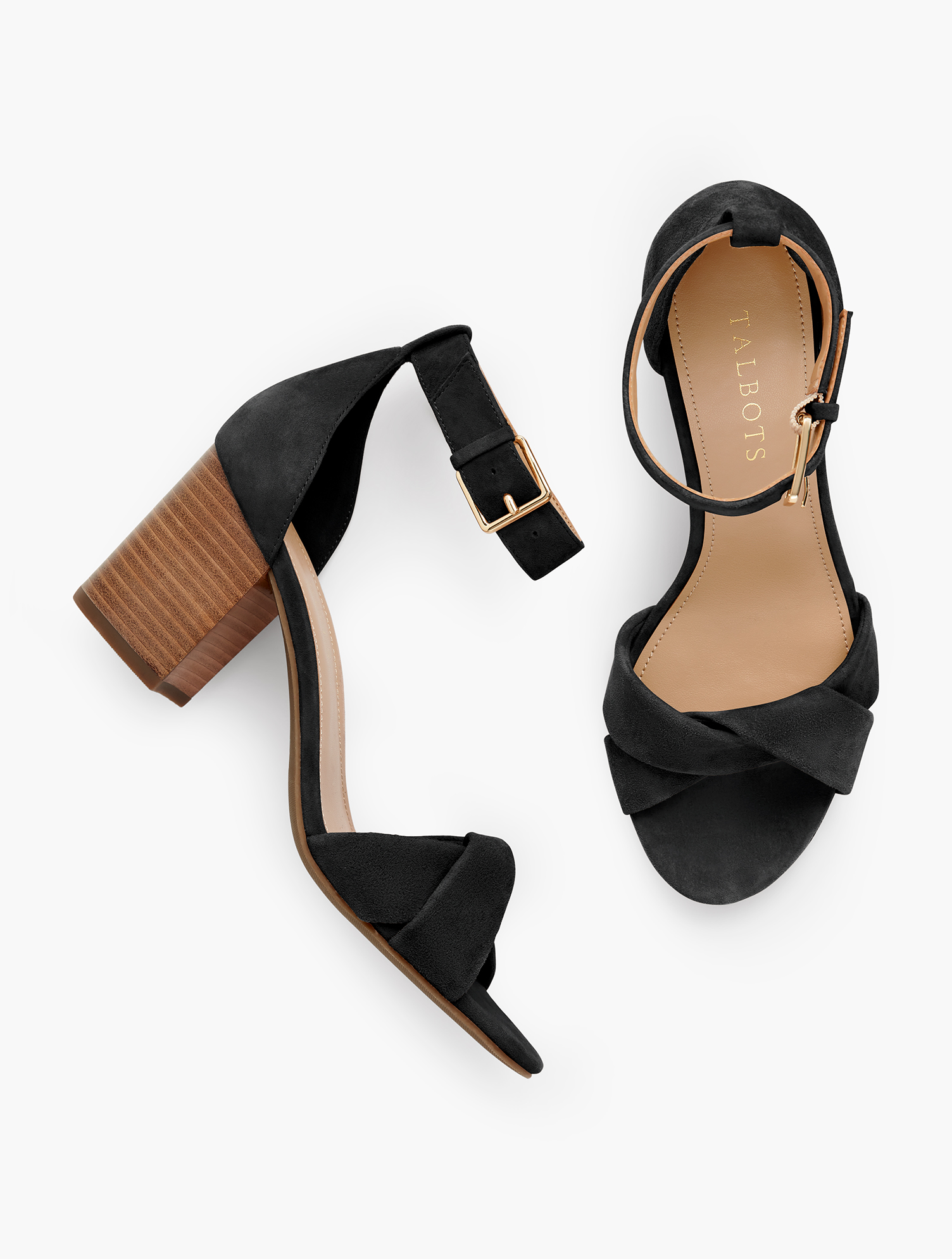 Your favorite block-heel sandals are back and better than ever. Updated with a modern, twist strap across the toes and all new colors. Features Heel Height 2 3/4 inches Almond Toe Natural Stack Heel 3Mm Memory Foam Imported Material: 100% Leather Beatrice Twist Strap Sandals - Black - 11M Talbots
