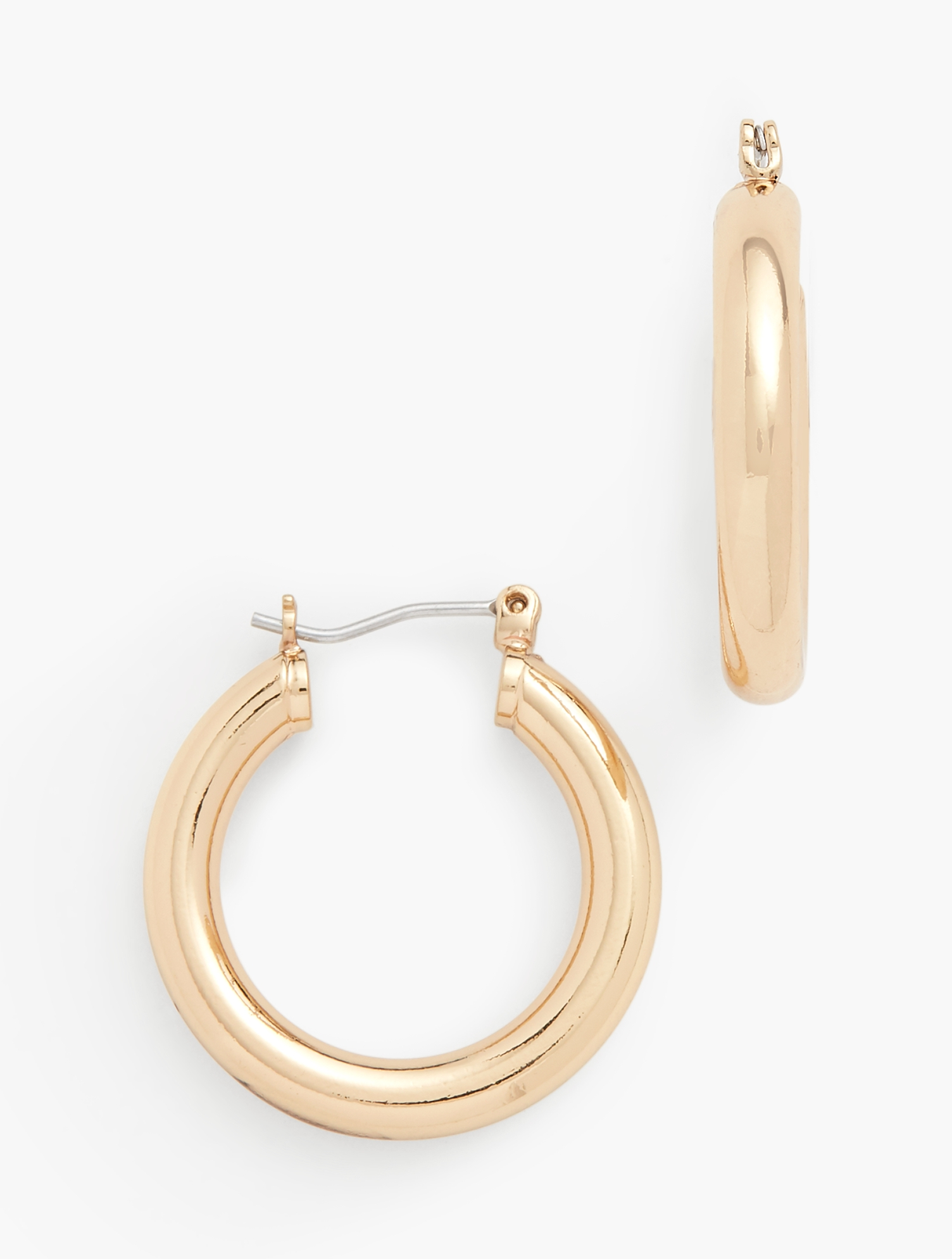 60s -70s Jewelry – Necklaces, Earrings, Rings, Bracelets Classic Hoop Earrings - GOLD - OS - Talbots $17.70 AT vintagedancer.com