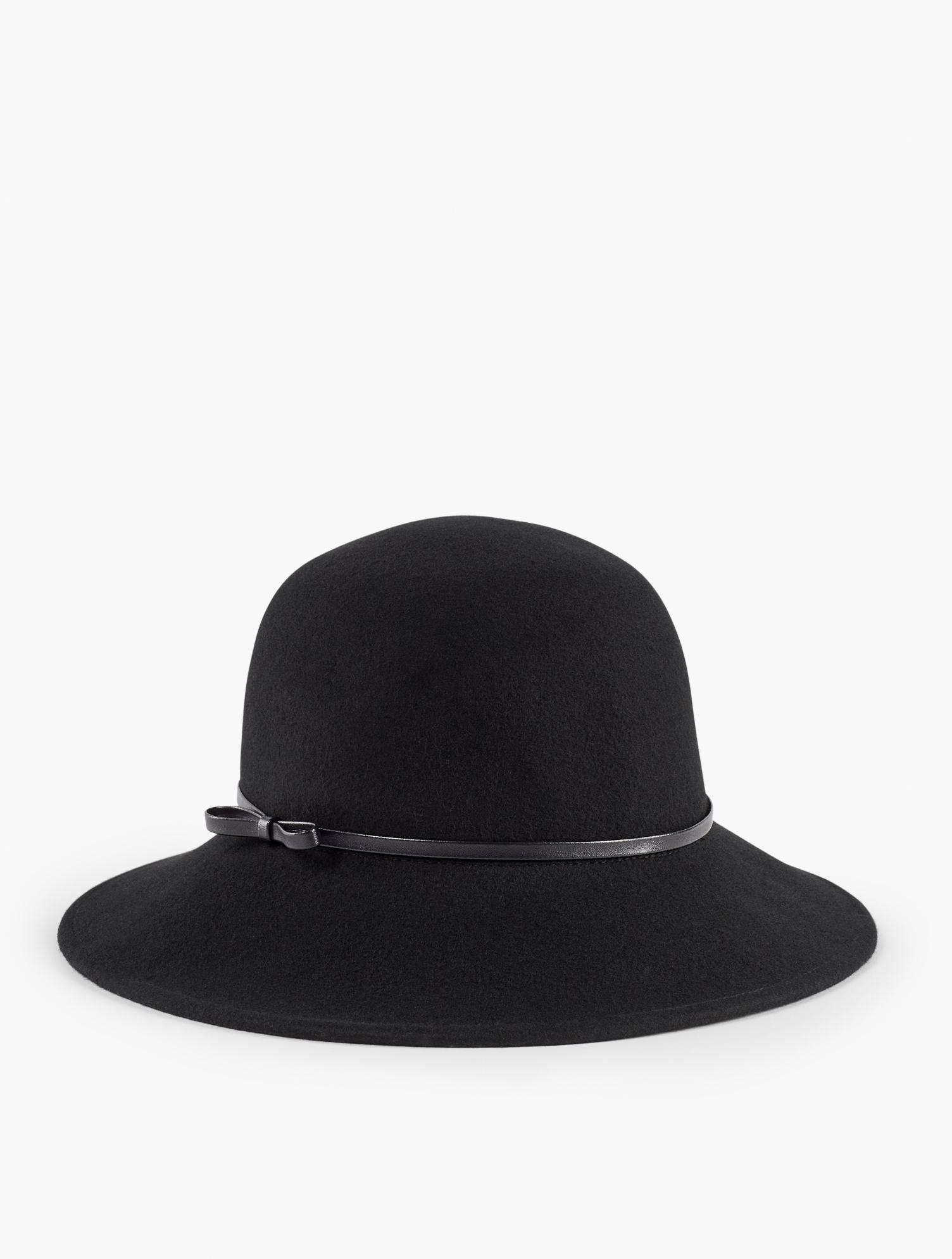 1920s Hat Styles for Women – History Beyond the Cloche Hat Wool Felt Hat - Black - 001 Talbots $69.50 AT vintagedancer.com