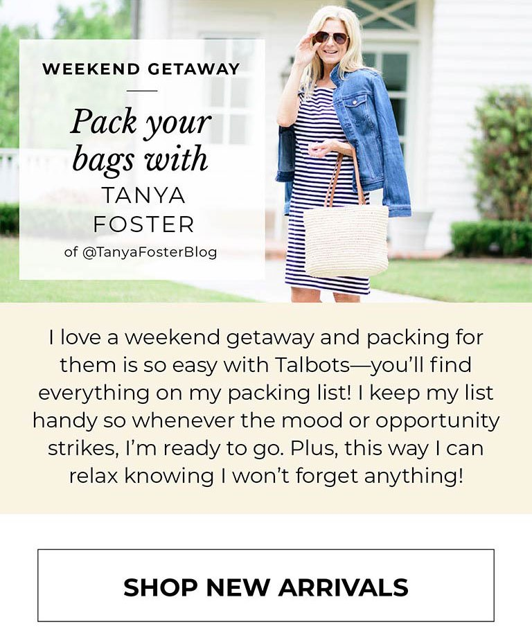 Pack your bag with Tanya Foster of @TanyaFosterBlog