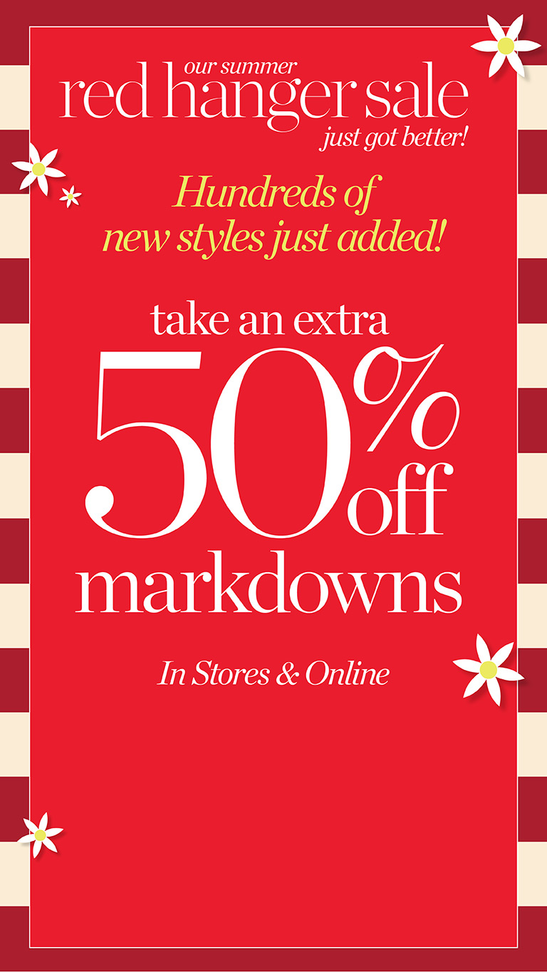 40% off Markdowns