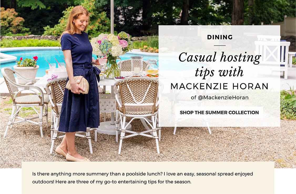 Casual hosting tips with Mackenzie Horan