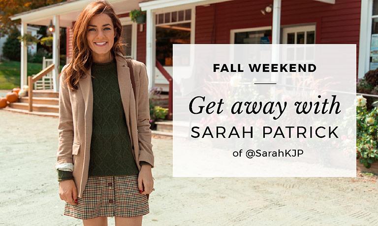 Get away with Sarah Patrick